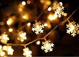 snowflake string of lights christmas snowflake waterproof battery led flash lights string