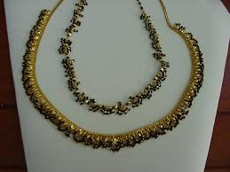 black necklace with gold images 2010 gold jewelry just received JPG