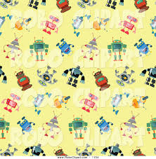pattern clip art images clip art of a seamless robot pattern on a yellow background by