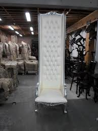king and queen chair rental throne chair white 8 feet tall great