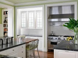painting kitchen cabinets white grey granite countertops glass