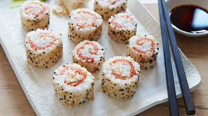 everything bagel sushi rolls recipe food network kitchen food