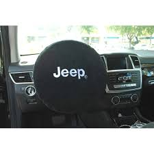 white jeep 2018 wrangler jk steering wheel cover black with white jeep logo 2007