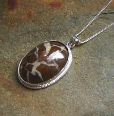 white quartz necklace images Brown natural stone necklace with white quartz veins northumbria jpg