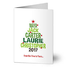 personalized christmas cards christmas family tree