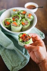 rice paper wrap bulgogi rolls with sweet ssamjang sauce my korean kitchen