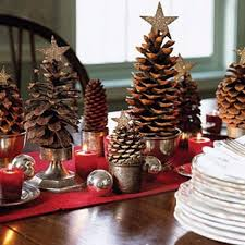 xmas home decorations dark wood dining table table decorations for christmas party ideas