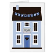 congratulations on new home birdhouses flags card zazzle