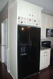 wine rack cabinet over refrigerator diy over fridge cabinet wine storage kitchen rennovation