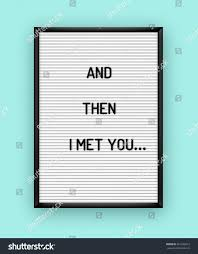 romantic quote on white letterboard black stock vector 561292012