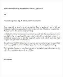 32 resignation letters in pdf free u0026 premium templates