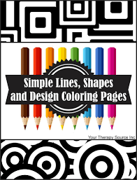 simple lines and shapes coloring your therapy source