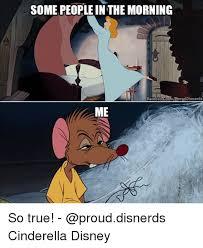 Cinderella Meme - some peopleinthe morning oncomproud disnerds facebook me so true