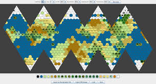 Realistic Map Of The World by Icosahedral World Map Generator Inkwell Ideas