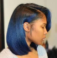 how to keep black women feather hairstyle 60 showiest bob haircuts for black women ombre bob blue ombre
