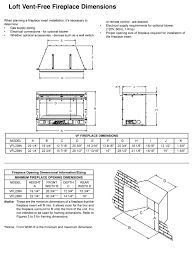 gas fireplace dimensions dact us