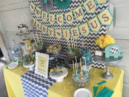 yellow baby shower ideas chevron elephant baby shower gray yellow teal tones baby shower