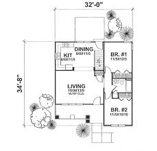 bungalow style house plan 2 beds 1 00 baths 936 sq ft plan 50 122