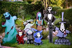 christmas lawn decorations nightmare before christmas lawn decorations
