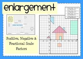 enlargement positive negative u0026 fractional scale factors by