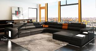canap 10 places deco in canape panoramique noir et orange angle droit venise