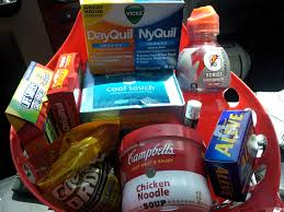 care package for someone sick a get well basket for my sick medicine candy drink soup