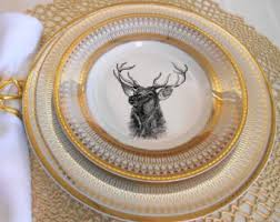 personalized christmas platter reindeer plates etsy