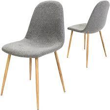 designer stühle esszimmer 4x design stuhl mit stoffbezug hellgrau esszimmerstühle stühle