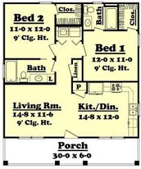 Large 2 Bedroom House Plans Plan 2568dh Small Plan Big Heart Kitchen Dining Flipping And