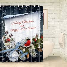 popular christmas fabric shower curtains buy cheap christmas