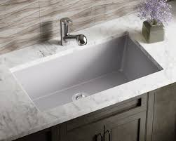What Are Bathroom Sinks Made Of 848 Silver Large Single Bowl Undermount Trugranite Kitchen Sink