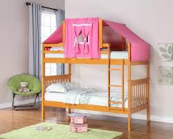 girls castle loft bed cheerful low loft bed tent kit honey finish custom kids furniture