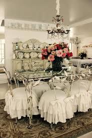 Dining Chairs Shabby Chic Custom Slipcovers By Shelley Shabby Chic Ruffled Slipcovers