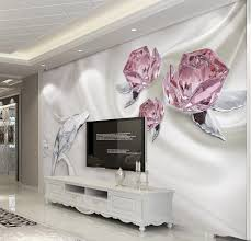 online get cheap vintage wall murals wallpaper aliexpress com custom 3d photo wallpaper fashion crystal rose 3d murals wallpaper living room 3d walls murals wallpaper