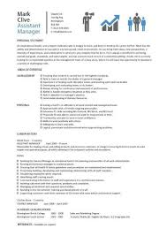 resume exles for assistant assistant manager resume retail cv description