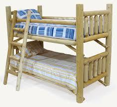 Cedar Log Rustic Bunk Beds BunkBeds - Log bunk beds