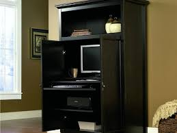 Sauder Armoire Computer Desk Space Saving Computer Armoire With Concealed Work Desk Getdatgadget