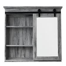 Barn Door Cabinets Glacier Bay 31 In X 29 In Barn Door Medicine Cabinet Sp5675