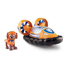 paw patrol zuma u0027s hovercraft vehicle figure amazon ca toys