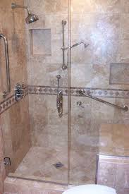 Bathroom Shower With Seat Shower With Seat Beautiful Travertine Walk In Shower With Seat