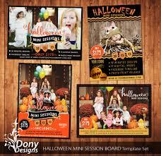 halloween mini session template set photography marketing board