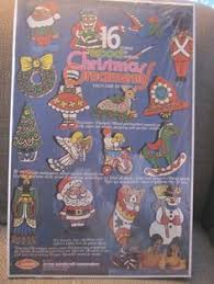 arrow paint by number wood 38 ornaments 1975 kit vintage