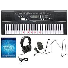 yamaha keyboard lighted keys yamaha ez 220 61 lighted key keyboard w yamaha l3c keyboard stand