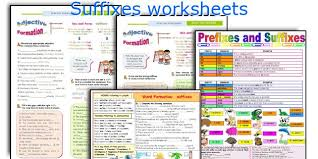 english teaching worksheets suffixes