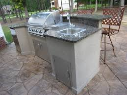 How To Build An Outdoor Kitchen Island by Outdoor Kitchen Sink Ideas Also Effective Gallery Images Glamorous