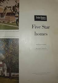 Better Homes And Gardens House Plans Better Homes And Gardens Five Star Homes For 1952 No Pattern