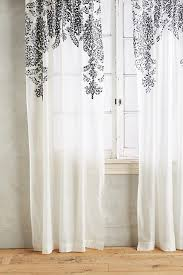 White Cotton Curtains Fairuza Curtain Anthropologie
