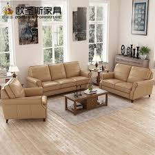 Chesterfield Sofa Antique Light Coffee American Style 6 Seats Chesterfield Sofa Replica