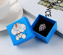 box cincin simple seven 30pcs lot sky blue jewelry box doraemon