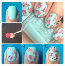 how to make roses on nails diy nail art alldaychic